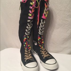 cool converse chuck Taylor knee high sneakers
